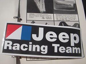 AMC-Jeep-Racing-Team-emblem-decal-CJ5-CJ7-Wagoneer-J10-DJ5-Renegade-BARGAIN