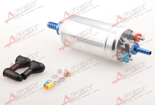"High Flow Fuel Pump Bosch 044 3//4/"" Inlet  5//16/"" Outlet Barb Blue"