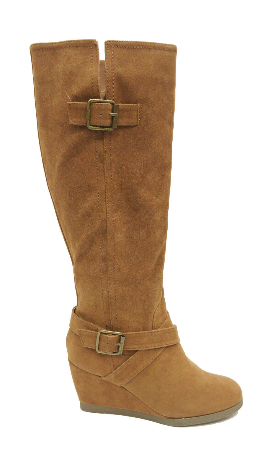 Shi by Journeys Cognac Faux Suede Knee High DUSTIN Tall Boots Women's shoes