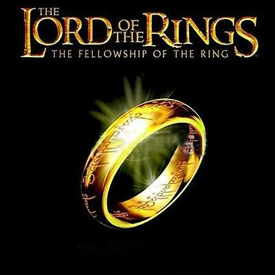 Lord of the Rings The One Ring LOTR Titanium Stainless Steel Wedding Aragon Ring