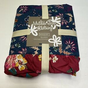 Queen Matilda Jane Choose Your Own Path  Evening Oasis Bed Skirt NEW