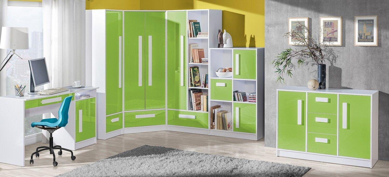 eckschrank eckkleiderschrank guliver schrank kinderzimmer jugendzimmer ebay. Black Bedroom Furniture Sets. Home Design Ideas