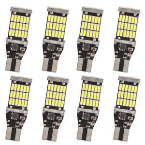8x-T15-W16W-45-SMD-4014-Error-Free-LED-Car-Reverse-Back-Light-Bulbs-6000K-White