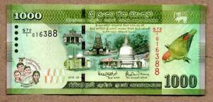 Combine FREE! Sri Lanka 1000 Rupees P New 2018 Commemorative UNC Low Shipping