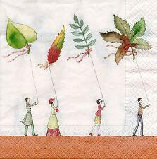 4 Motivservietten Servietten Napkins Tovaglioli Herbst Blätter (946) Basteln