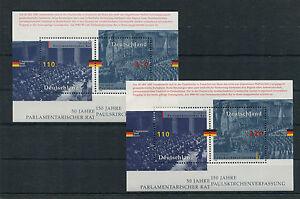 Bund-Block-43-postfrisch-2-Stueck-BRD-1986-1985-50-Jahre-Parlamentarischer-Rat