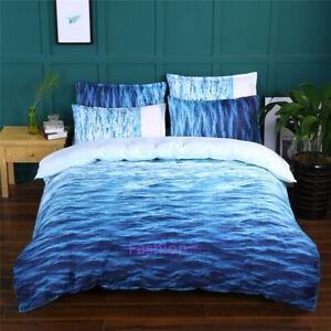 Doona/Duvet/Quilt Cover Set Single/Double/Queen/King Bed Pillow Case Blue Sea