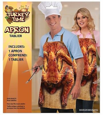 Adjustable Funny Turkey Apron Chef Cook Thanksgiving Dinner Costume Accessory