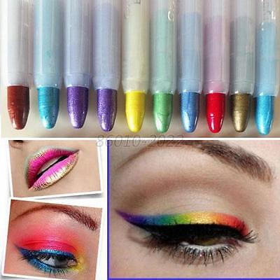 Glitter Lip Liner Eye Shadow Eyeliner Pen Makeup Cosmetic Labial Line Pen B90