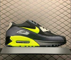 Details about Nike Air Max 90 Essential Mens Black Grey Volt Shoes UK Size 8 9 10 Limited