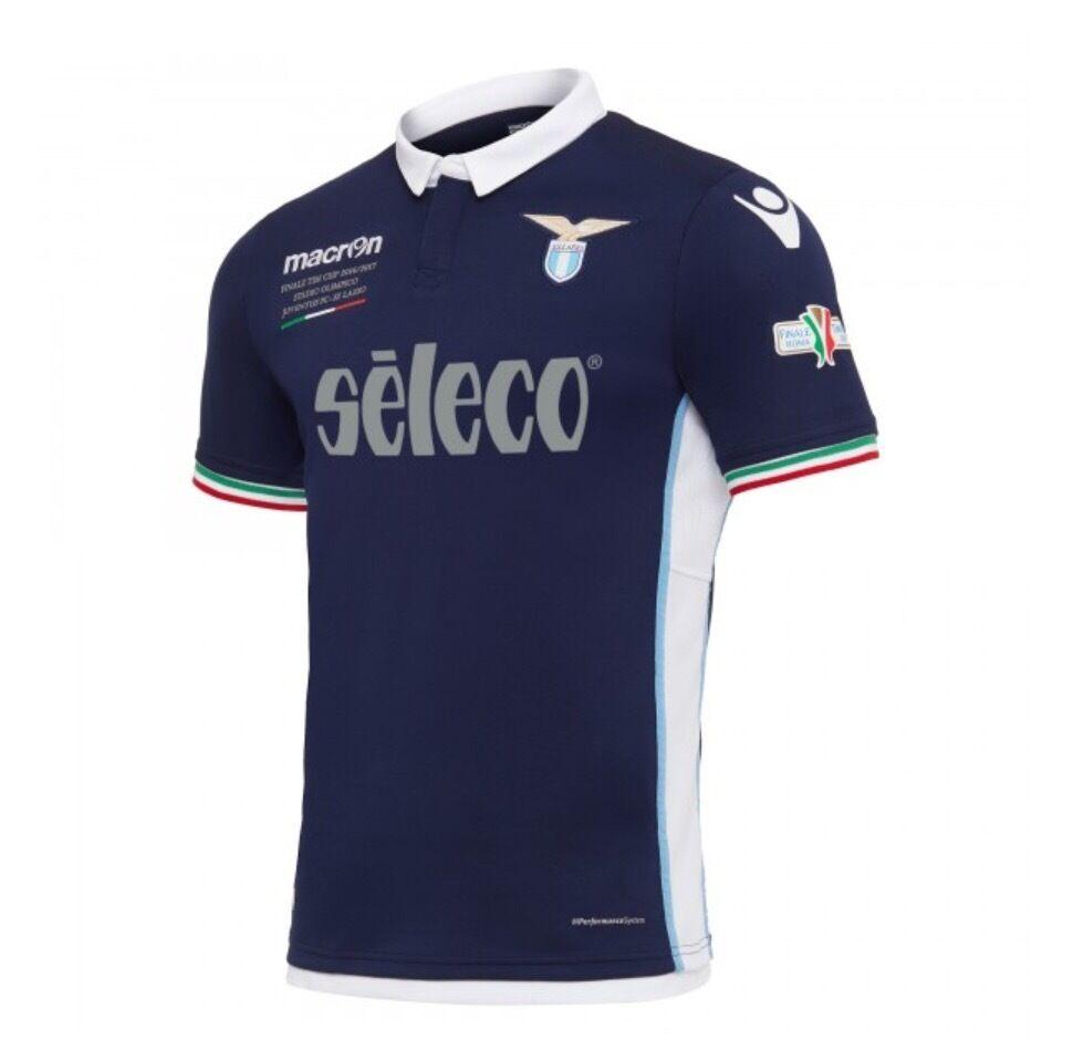 10026 LAZIO MACRON MAGLIA GARA SHIRT COPPA ITALIA FINALE TIM CUP JERSEY  30