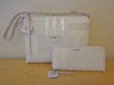 NEW Coach 2-PC 30475 Highrise White Leather Patchwork Handbag & Wallet $796 NWT