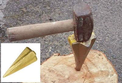 Sharp Point Diamond Wedge Log Splitting Tool Firewood Fire Wood Chopper Splitter