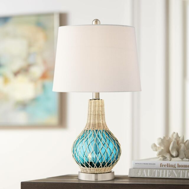 Seashell Table Lamp Ceramic Coral Living Room Light Beach Coastal Cottage Chic For Sale Online Ebay