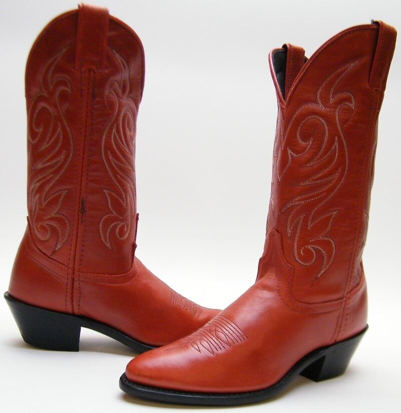 Damenschuhe SZ NEW VINTAGE LAROTO ROT LEATHER COWBOY WESTERN BOOTS SZ Damenschuhe 6.51/2 M USA MADE 00c3c3