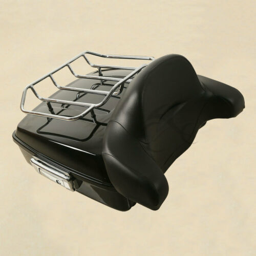 Chopped Tour Pak Pack Backrest Two-Up Rack For Harley Touring Road Glide 14-18