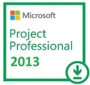 Details about MS Project 2013 Professional License Key 32/64 bit 01 PC