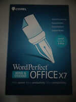 Wordperfect Office X7 Home And Student Install Up To 3 Pc's Cd-rom Pc