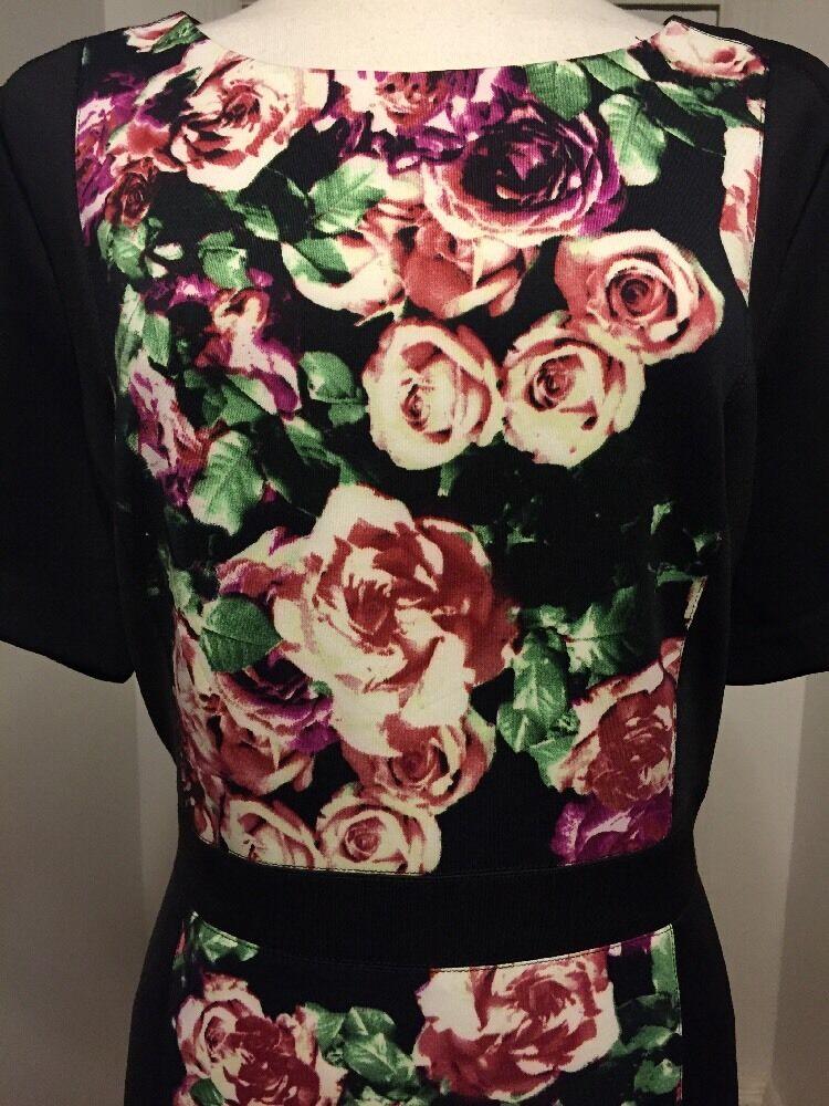 NWT NYDJ Gisselle Floral Floral Floral Print Sheath Dress Size 16 MSRP  188 24eb0e