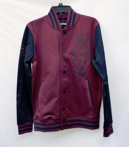 L NWT Zoo York Burgundy Black Logo Varsity Men/'s Jacket Sz S M