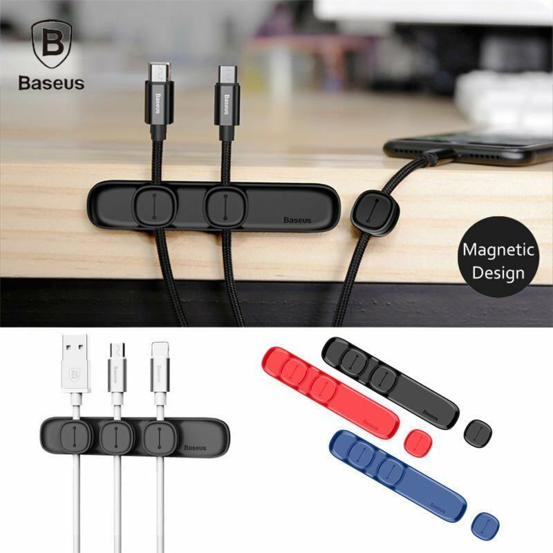 New Organizer Management Magnetic Cable Clip Wire Cord Table Winder Line Holder