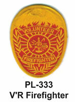 V'r Firefighter Embroidered Patches 4