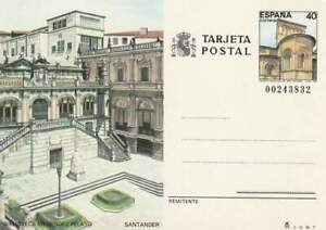 Spanje briefkaart tarjeta postal onbeschreven - Biblioteca Menendez Pelayo (05)