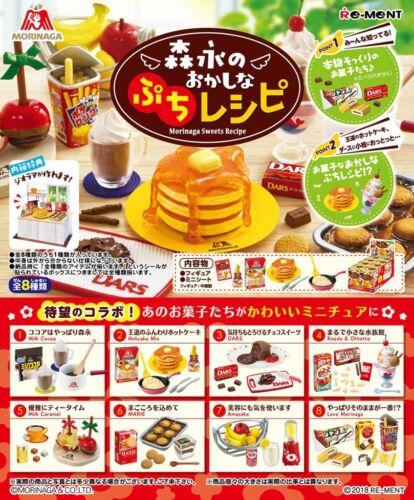 NEW Arrival Re-Ment Miniature Morinaga Sweets Recipe rement Full set of 8