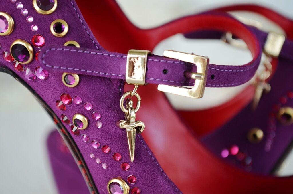 Cesare Paciotti talla 38,5 Open-Toes pumps alto tacón alto pumps zapatos de noche nuevo ex PVP de0e90