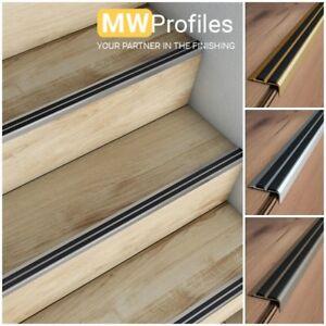 Image Is Loading Aluminium Stair Nosing Edge Trim Step Nose Edging