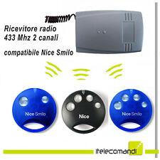 Ricevitore radio ricevente RX402 2 canali compatibile Nice Smilo SM2 SM4