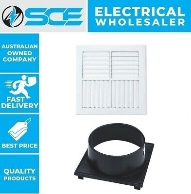 Details about  Polyaire Square Ceiling Vent Outlet 4Way MDO Ducted Heating Vent All Neck Sizes