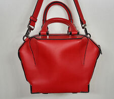 Alexander Wang Mini Emile In Cult With Rhodium Hardware & Red Leather
