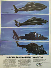 1989-90 PUB LHTEC ALLISON GARRETT T800 ENGINE LHX LYNX PANTHER HELICOPTER AD