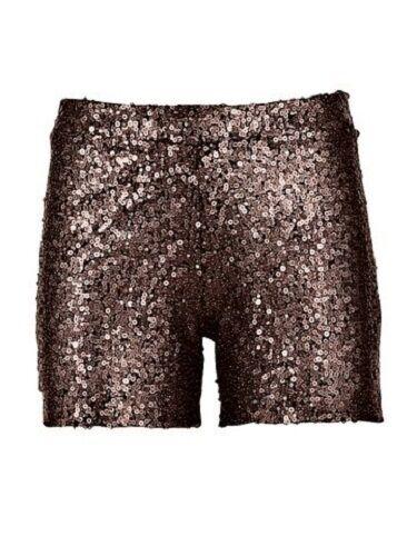 Carry Allen Pailletten Shorts Gr.38 40 42 braun kupferfarben Hose Hotpants NEU
