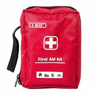 Emergency First Aid Kit with Red Nylon Case for Camping Outdoors, 85-PC Set