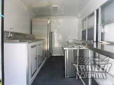 New 85 X 16 16 Enclosed Concession Food Vending Bbq Mobile Kitchen Trailer