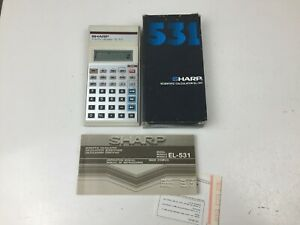 Sharp-Scientific-Calculator-EL-531-With-Box-and-Manual-White
