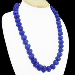 658-50-CTS-EARTH-MINED-SAPPHIRE-ROUND-SHAPE-CARVED-BEADS-BEADS-NECKLACE-RS