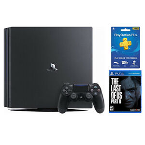 PlayStation 4 Pro 1TB Console Black + The Last of Us Part II Standard Edition +