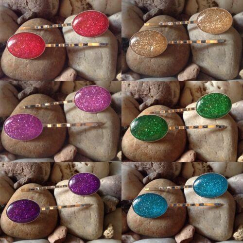 Efecto de brillo Bobby Kirby Clips apretones diapositivas Pines de los 6 Colores para Elegir BN