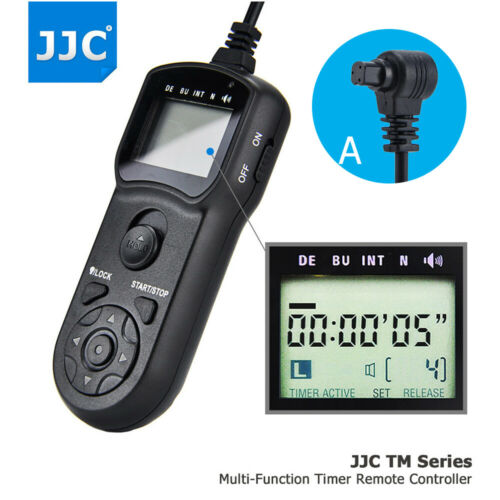 JJC LCD Timer Remote Control for Canon EOS 60D 50D 40D 30D 1D Mark IV as TC-80N3