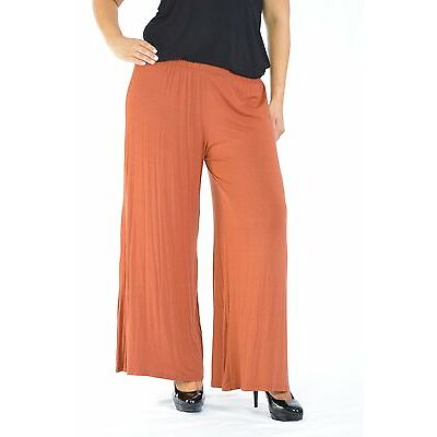 New Womens Plus Size Trousers Ladies Wide Leg Full length Palazzo Pant Nouvelle