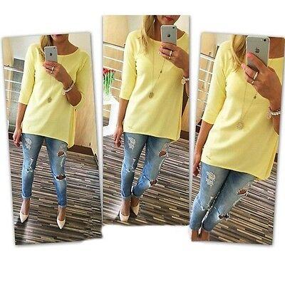 5 couleurs Femme Chemise Top Blouse 3/4 Manches T-Shirt Tunique Débardeurs Hauts