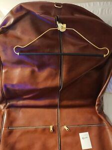 Porta abiti borsa da viaggio porta abiti in pelle borsa porta indumenti marrone
