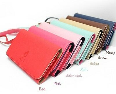 Hot Fashion Leather Women Purse Wallet For Iphone4S, Samsung, HTC ONE X