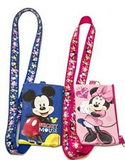 (2ct) Disney Mickey Minnie ID Holder iphone Lanyards with Detachable Coin Purse
