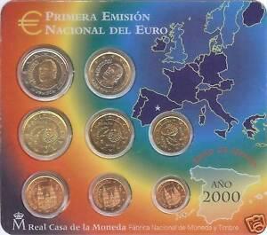 ESPANA-SPAIN-2000-BLISTER-EUROSET-8-MONEDAS-BU-SC