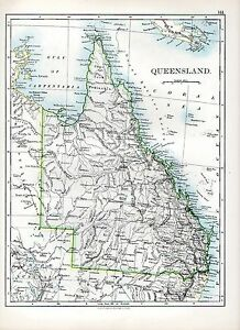 Map Of Australia Cape York Peninsula.Details About 1897 Victorian Map Queensland Australia Cape York Peninsula