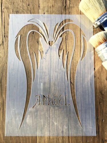 Vivero plantilla plantilla muebles alas de ángel de la guarda Plantilla de alas de ángel